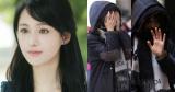 Lần đầu lộ diện sau 2 tháng, Trịnh Sảng ngại ngùng che kín mặt