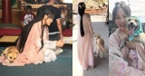 """""""Cười ngất"""" khi Trần Kiều Ân dắt... cún cưng đi quay phim"""