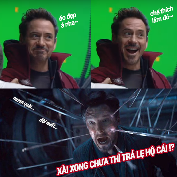 Tony steal Doctor's cloak